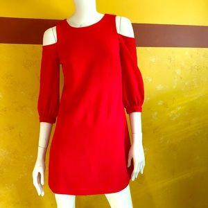 Eliza J open shoulder shift dress
